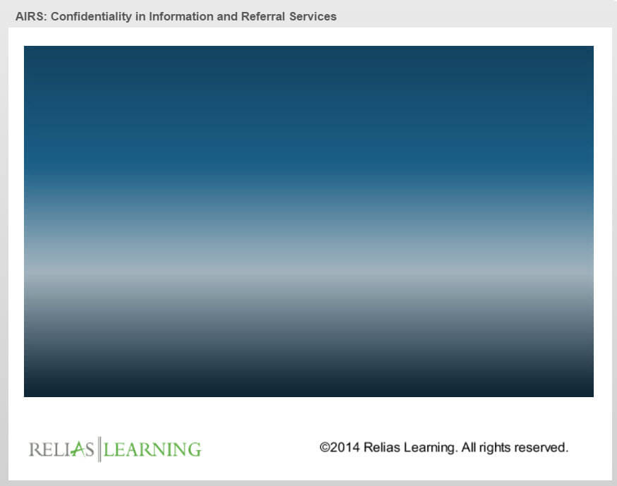 Airs Confidentiality In Information And Referral Services Relias