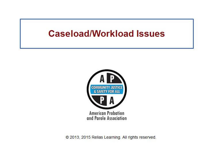 Caseload/Workload Issues