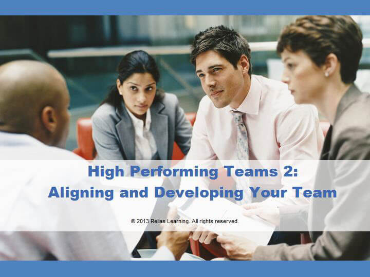 High Performing Teams: Aligning and Developing Your Team