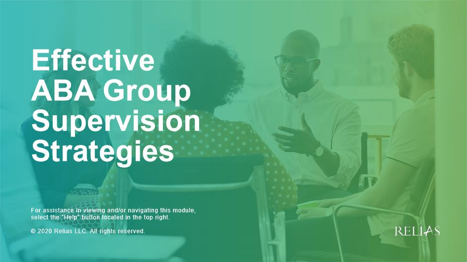 Effective ABA Group Supervision Strategies
