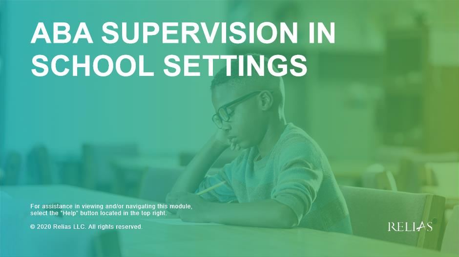 ABA Supervision in School Settings