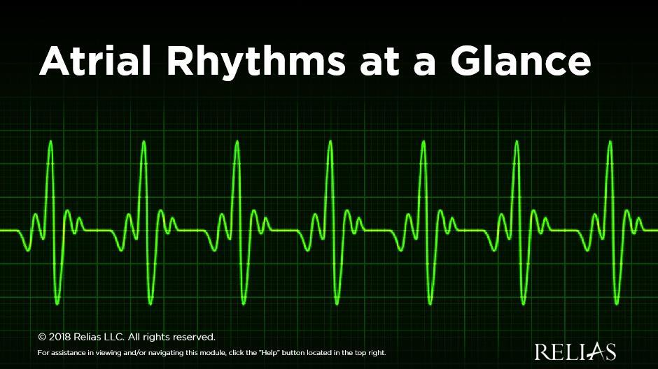 Atrial Rhythms at a Glance