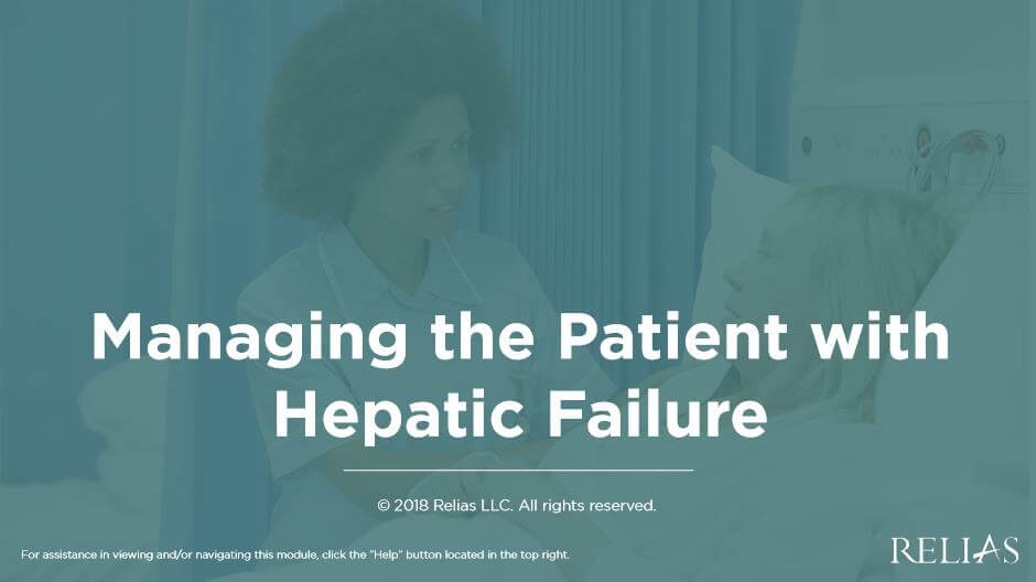 Managing the Patient with Hepatic Failure