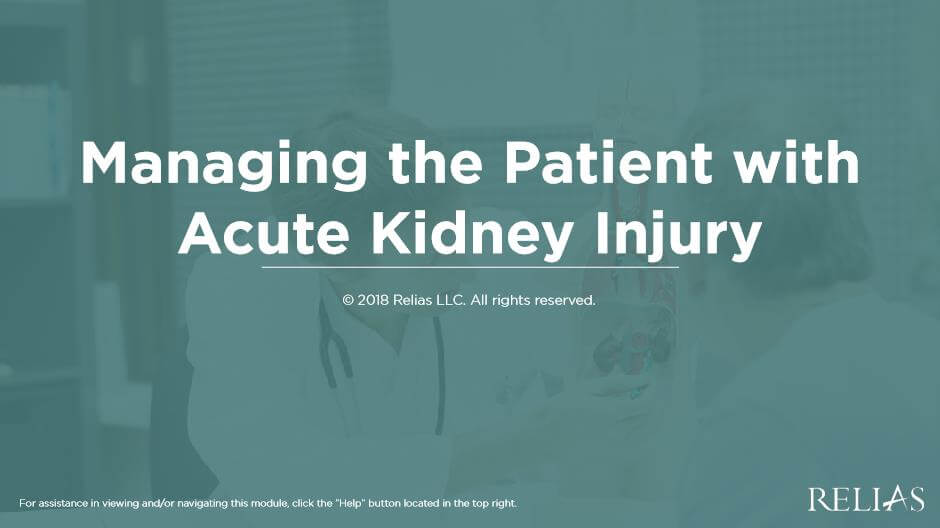 Managing the Patient with Acute Kidney Injury