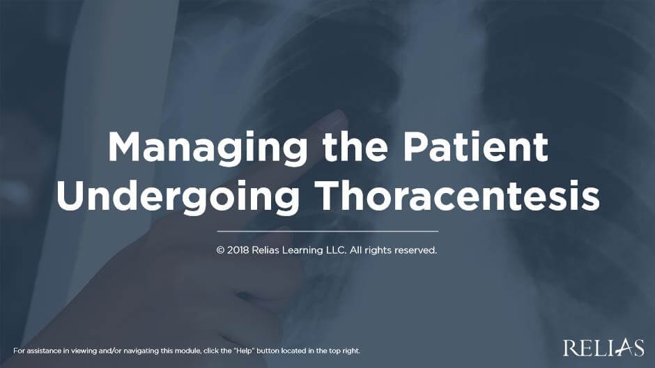 Managing the Patient Undergoing Thoracentesis