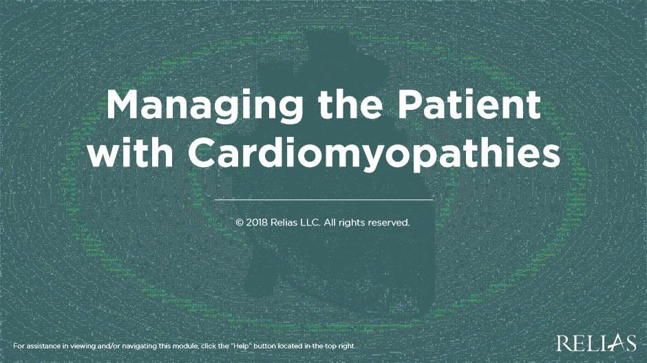 Managing the Patient with Cardiomyopathies