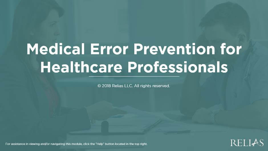 Medical Error Prevention for Healthcare Professionals