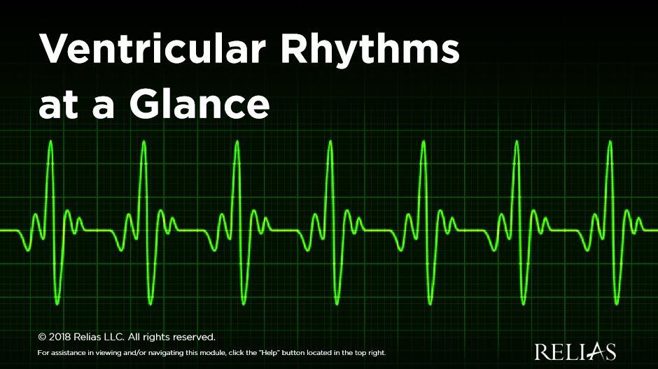 Ventricular Rhythms at a Glance