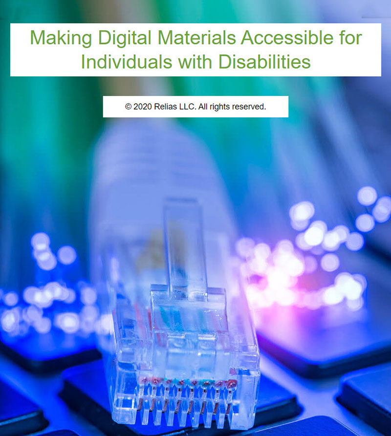Making Digital Materials Accessible for Individuals With Disabilities