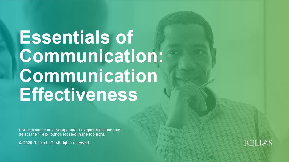 Essentials of Communication: Communication Effectiveness