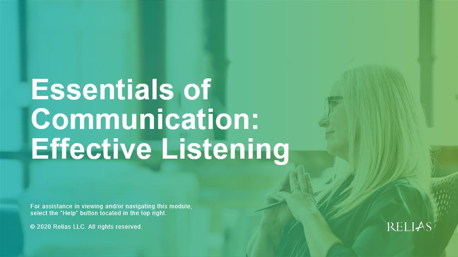 Essentials of Communication: Effective Listening