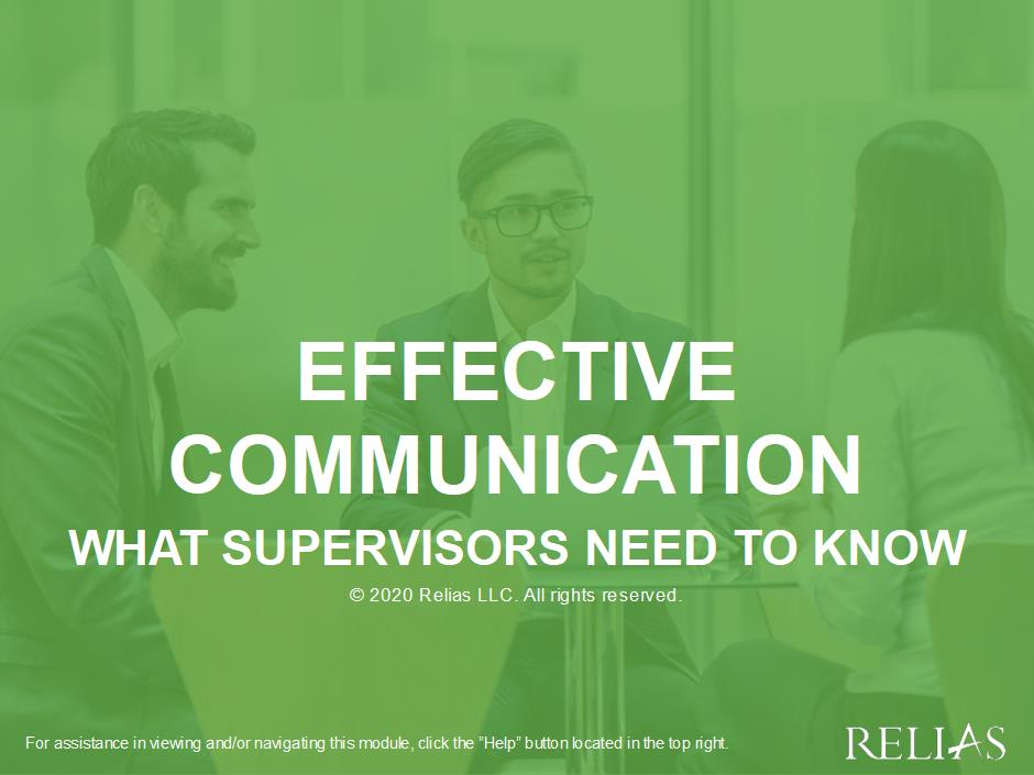 Effective Communication: What Supervisors Need to Know