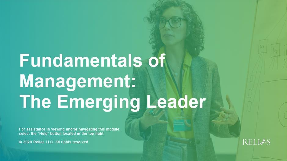 Fundamentals of Management: The  Emerging Leader