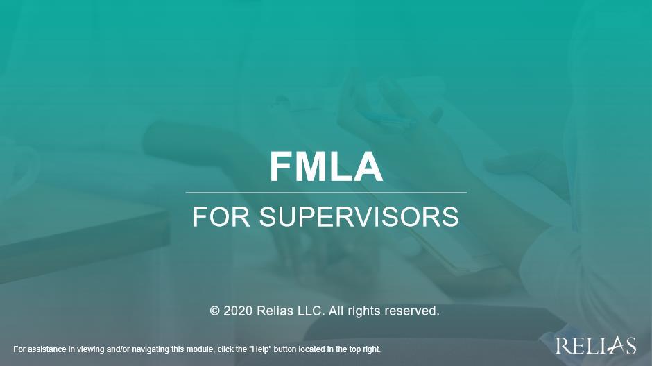 FMLA for Supervisors