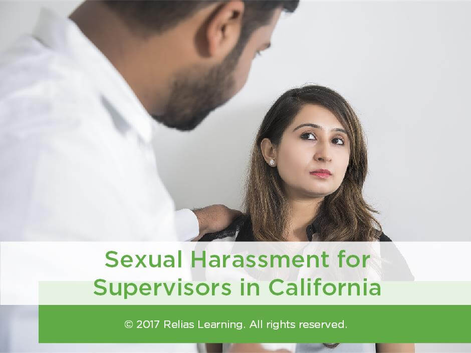 Sexual Harassment for Supervisors in California