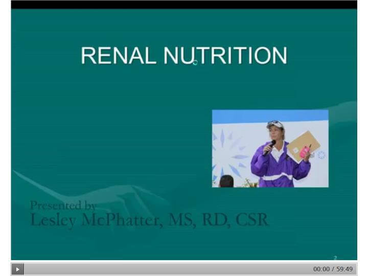 End Stage Renal Disease (ESRD) Overview, Management, and Nutrition