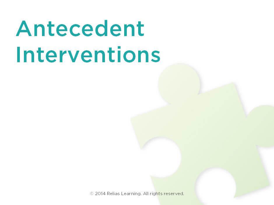 antecedent interventions relias academy
