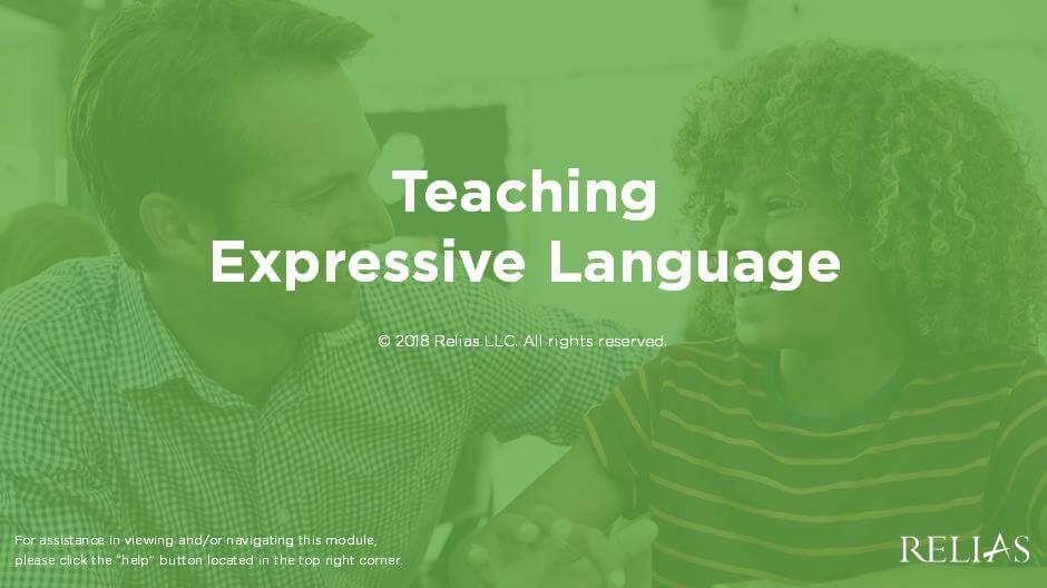 Teaching Expressive Language
