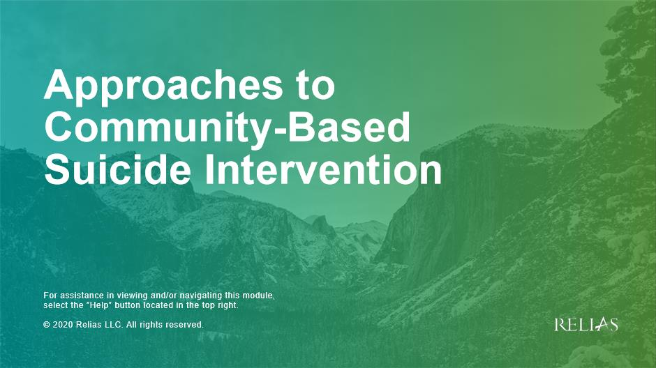 Approaches to Community-Based Suicide Prevention