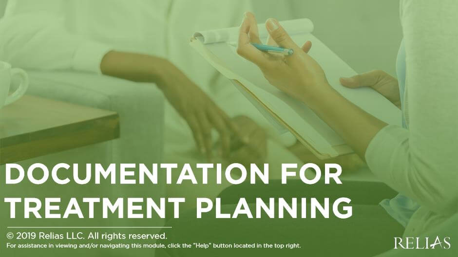 Documentation for Treatment Planning