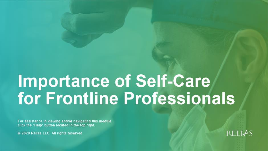 Importance of Self-Care for Frontline Professionals