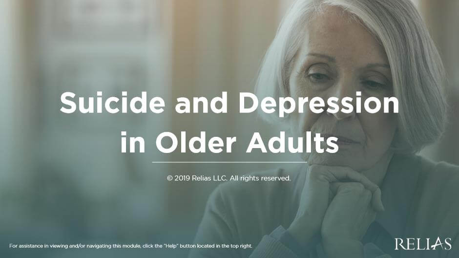 Suicide and Depression in Older Adults