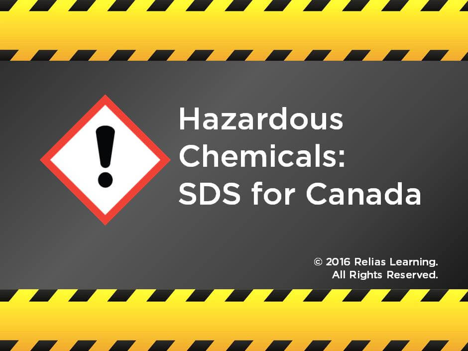 Hazardous Chemicals: SDS for Canada
