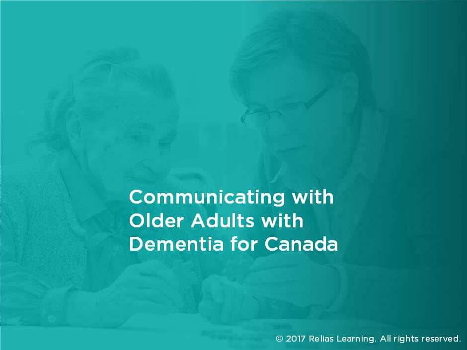 Communicating with Older Adults with Dementia for Canada