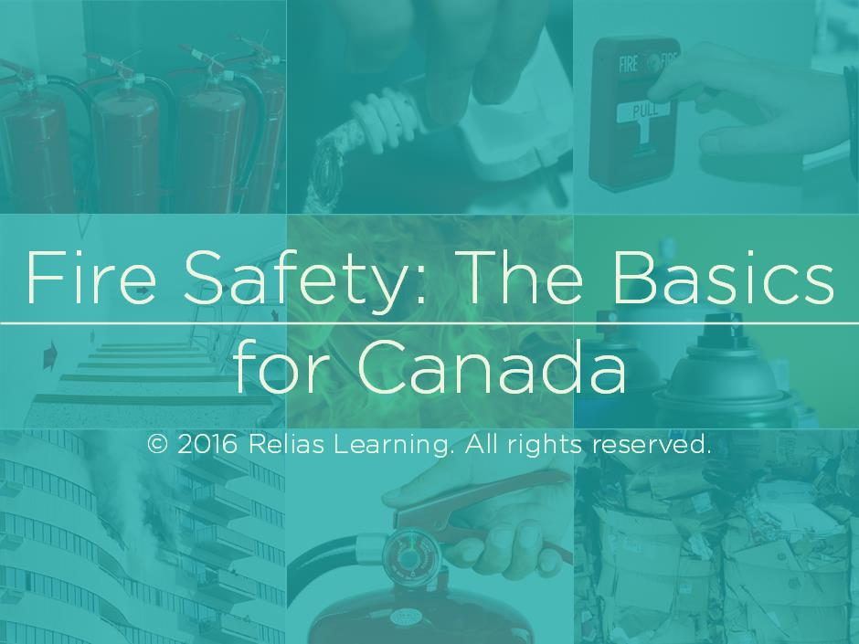 Fire Safety: The Basics for Canada