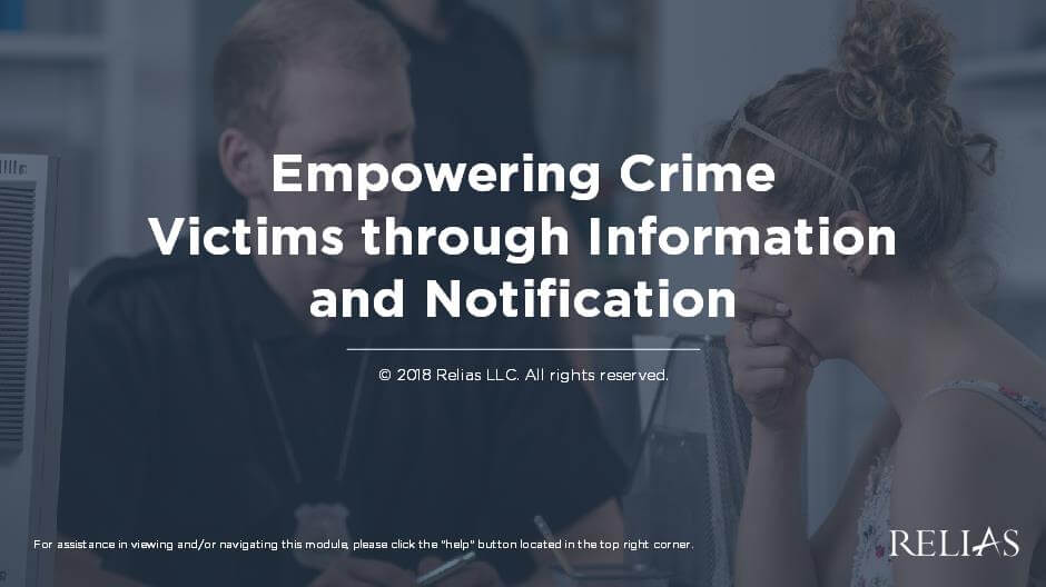 Empowering Crime Victims through Information and Notification