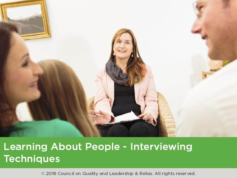Learning about People - Interviewing Techniques
