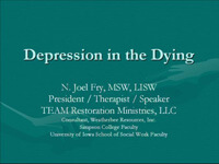 Depression in the Dying