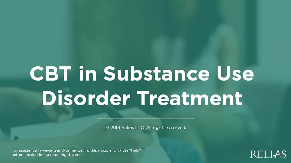 CBT in Substance Use Disorder Treatment
