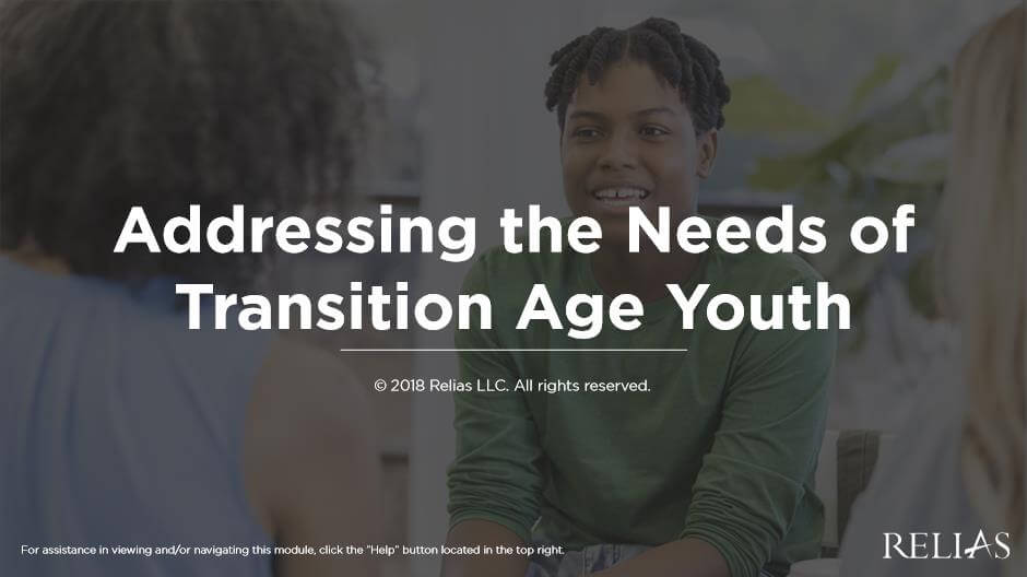 Addressing the Needs of Transition Age Youth