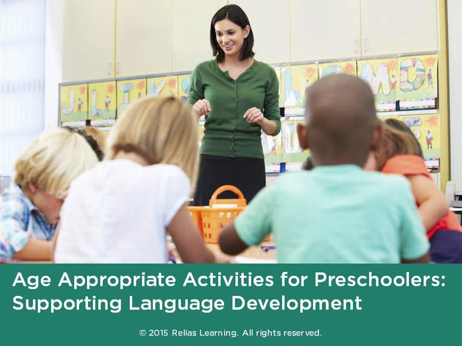 Activities for Preschoolers: Supporting Language ...