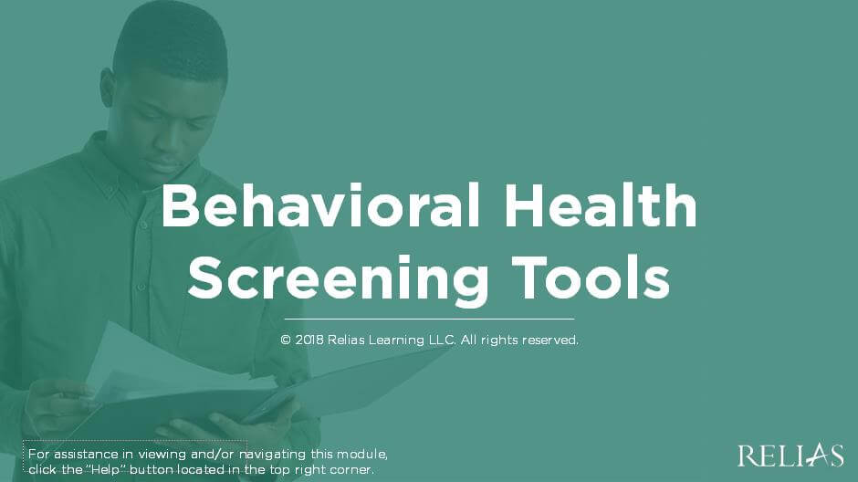 Behavioral Health Screening Tools