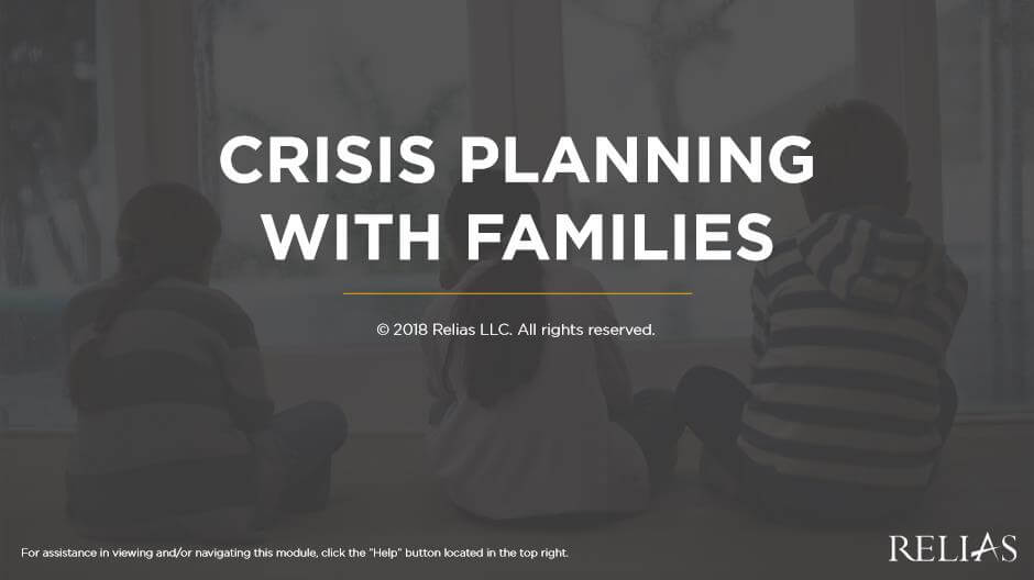 Crisis Planning with Families
