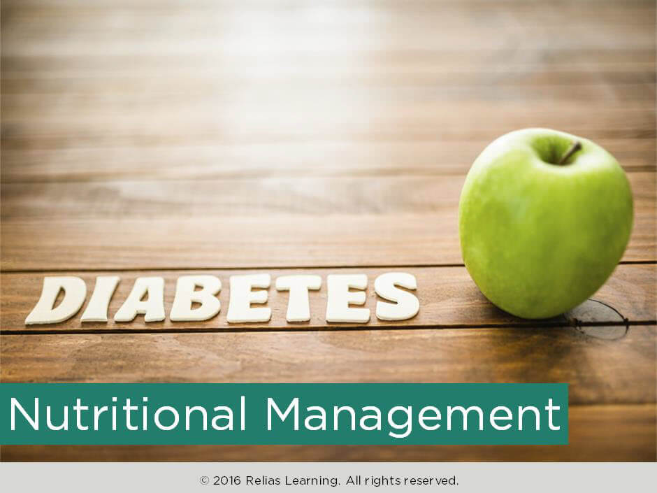 Diabetes: Nutritional Management