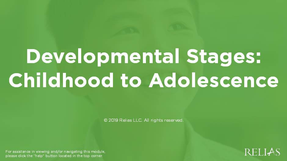 Developmental Concerns, Childhood to Adolescence