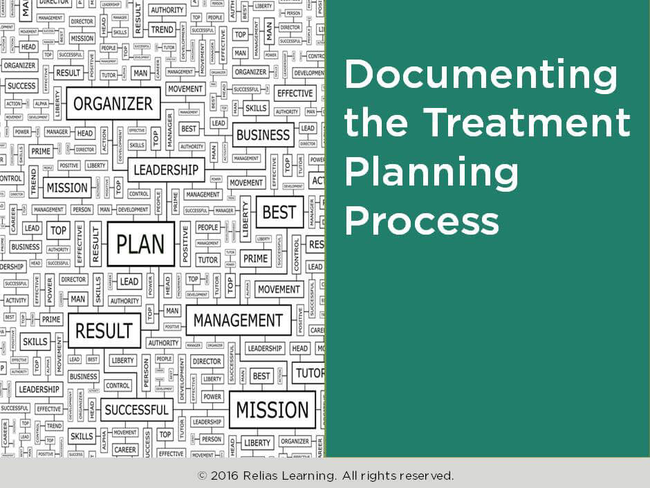 Documenting the Treatment Planning Process