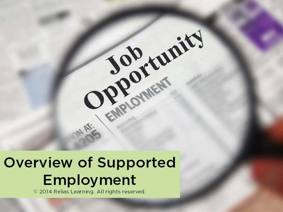 Overview of Supported Employment