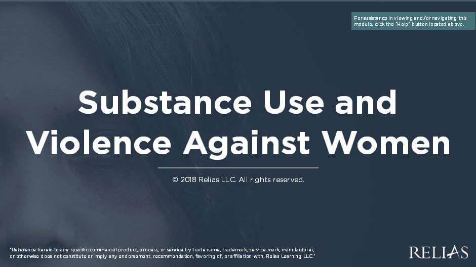 Connecting Substance Use and Interpersonal Violence