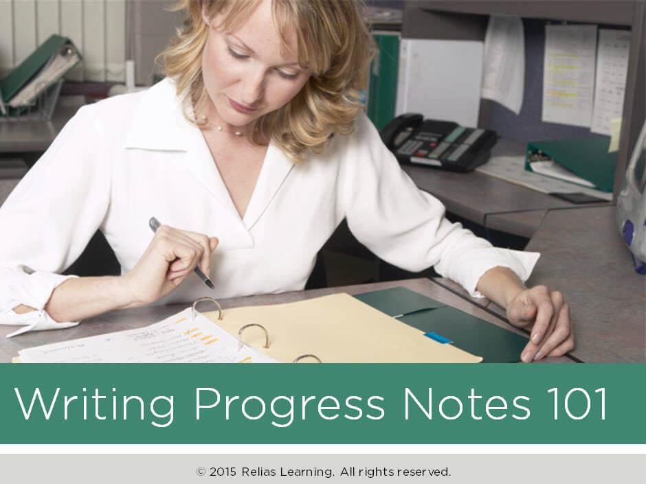 Writing Progress Notes 101
