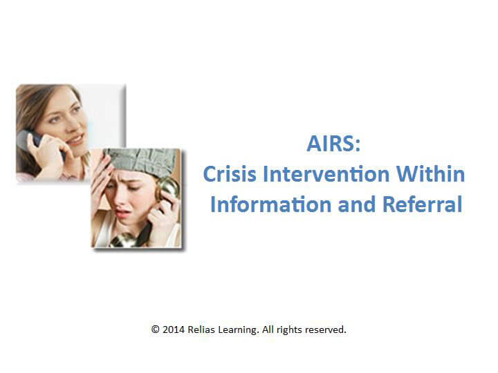 AIRS: Crisis Intervention within Information and Referral