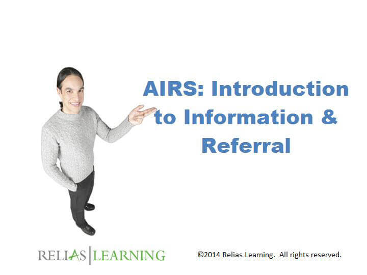 AIRS: Introduction to Information & Referral
