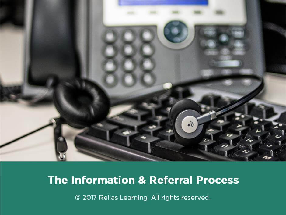 The Information and Referral Process
