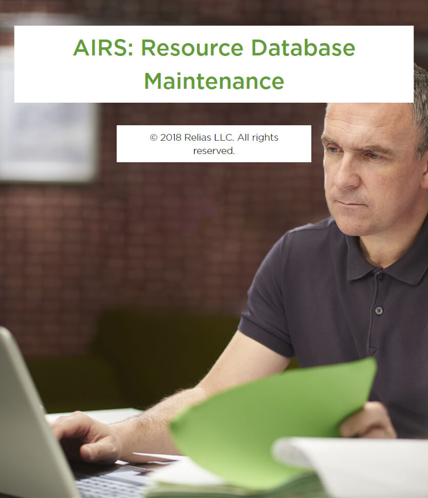 AIRS: Resource Database Maintenance
