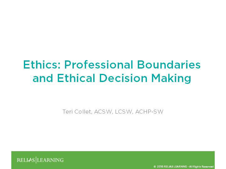 the importance of ethical decision making