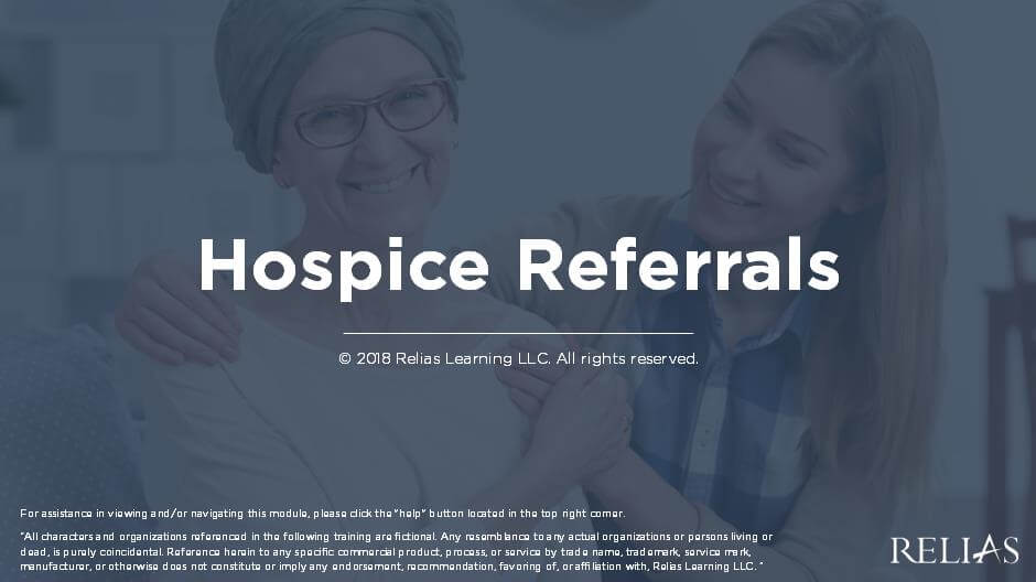 Hospice Referrals