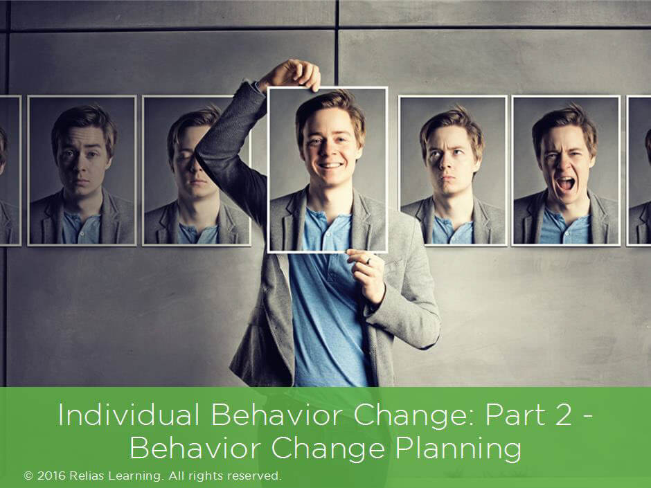 Individual Behavior Change: Part 2 – Behavior Change Planning